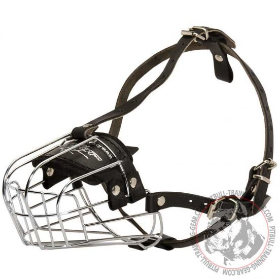 Basket Wire Pit Bull Muzzle for Training Walking