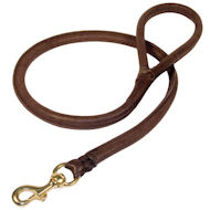 6 mm Round Leather Pitbull Leash