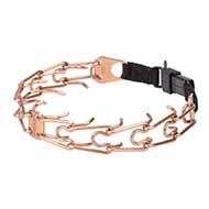 'Under Control' Pitbull Prong Collar with Removable Links - 1/6 inch (4.0 mm) prong diameter