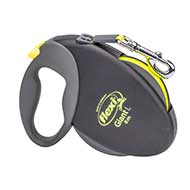 'Easy Walking' Retractable Nylon Pitbull Leash with Handy Braking System - Medium
