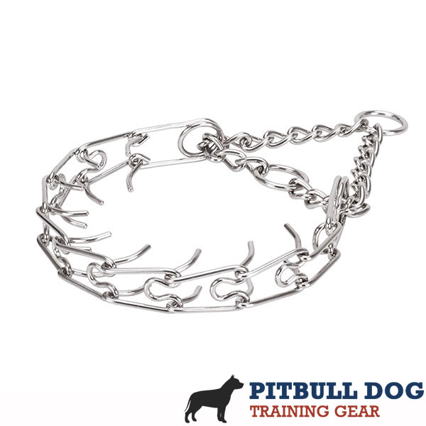 Medium and large pets prong collar with stainless steel removable prongs