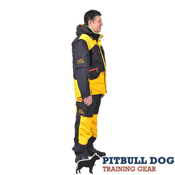 Handy Dog Training Bite Suit with a Number of Pockets
