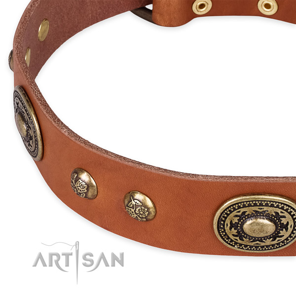 Handcrafted full grain leather collar for your lovely doggie