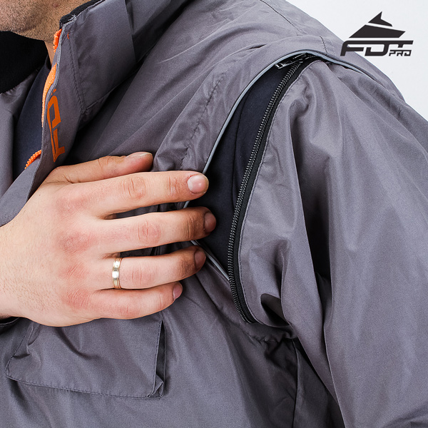 High Quality Zipper on Sleeve for FDT Pro Design Dog Tracking Jacket