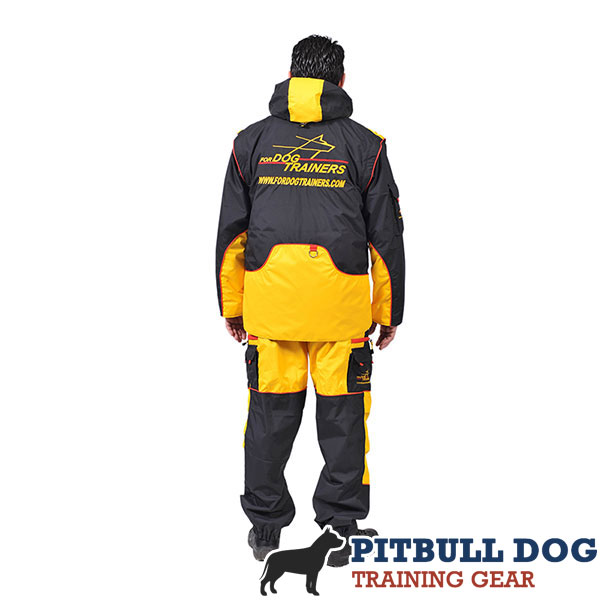 Membrane Fabric Dog Training Bite Suit with Side Pockets