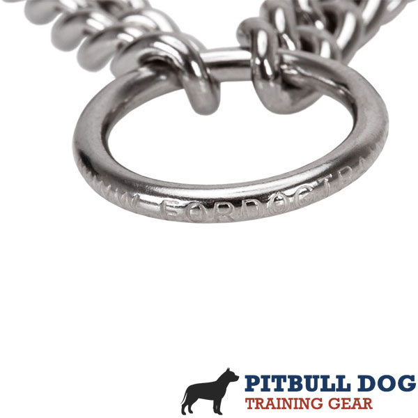 Top notch chrome plated prong collar for badly behaved dogs