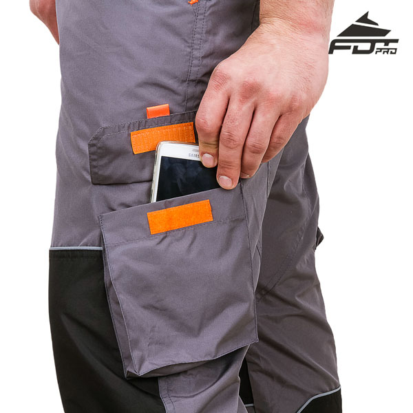 FDT Pro Design Dog Tracking Pants with Comfy Velcro Side Pocket