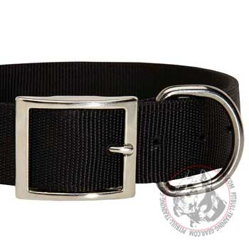 Durable Nickel Hardware on Nylon Dog Collar for Pitbull