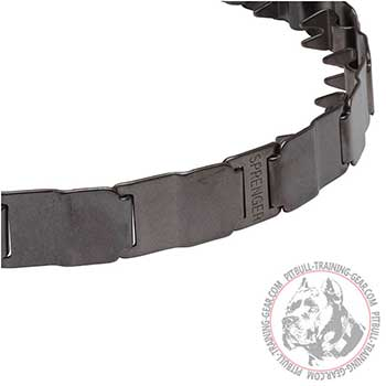Matt Stainless Steel Links of Herm Sprenger Pitbull Collar