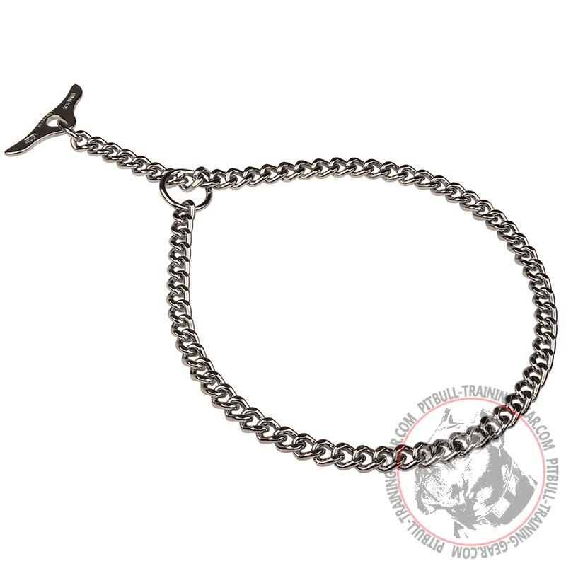 Order Metal Pitbull Choke Collar With Toggle Training Gear