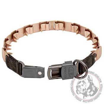Pitbull dog curogan collar with easy-to-fasten buckle