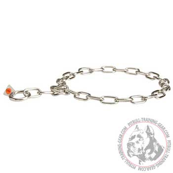 Stainless Steel Pitbull Choke Collar with 3 mm Links