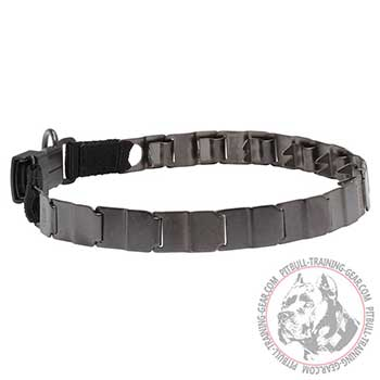 Pit Bull Stainless Steel Neck Tech Collar for Behavior Improvement