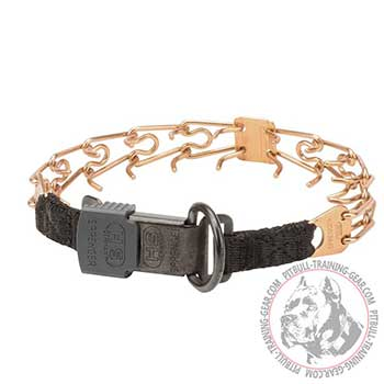 Curogan Pit Bull Prong Collar with Click Lock Buckle