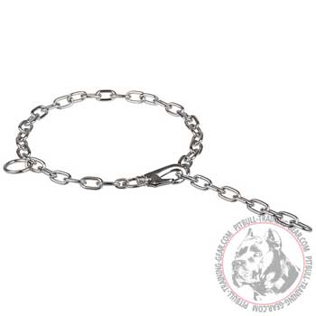 Durable fur saver choke chain Pitbull collar