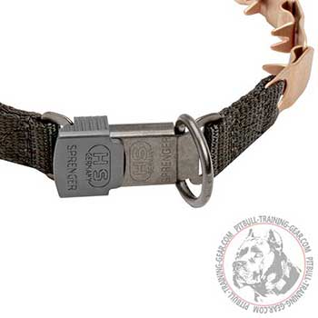 Reliable click lock buckle of Pitbull neck tech collar