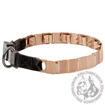 Curogan neck tech collar for Pitbulls