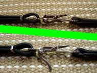 Nickel Plated Snap Hooks on Leather Dog Collar and Leash Combo