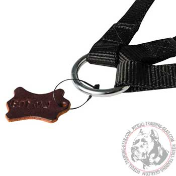 Rust Proof Nickel-Plated Ring on Nylon Dog Coupler Leash