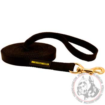 Tracking Weather Proof Nylon Dog Leash for PitBull