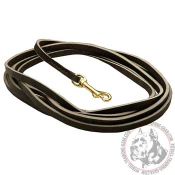 Durable Leather Pitbull Lead for Tracking and Patrolling Work