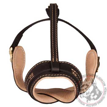 Comfy Pit Bull Muzzle Padded with Soft Nappa Leather