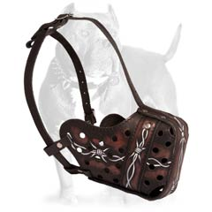 Perfect leather dog muzzle